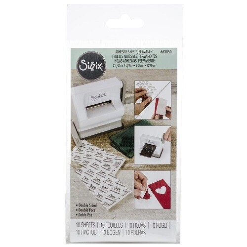 """Sizzix - Adhesive Sheets - Double Sided - 2 1/2"""" x 4 3/4"""" - 10 Sheets"""
