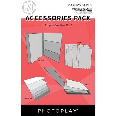 Photoplay Makers Series - Build An Album Accessory Pack - White