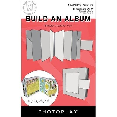 """Photoplay Makers Series - Build An Album Kit - 6"""" x 6"""" hinged album - White"""