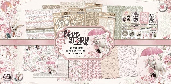 Celebr8 - Love Story - 12 x 12 Paper Collection