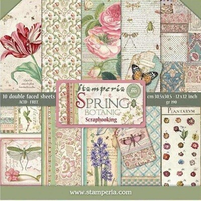 Stamperia - Spring - 12 x 12 Paper Collection Pack