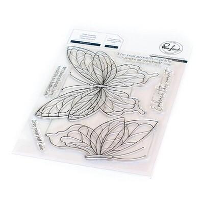 """PinkFresh Studios - Clear Stamp - Butterflies 4"""" x 6"""" - 113121"""