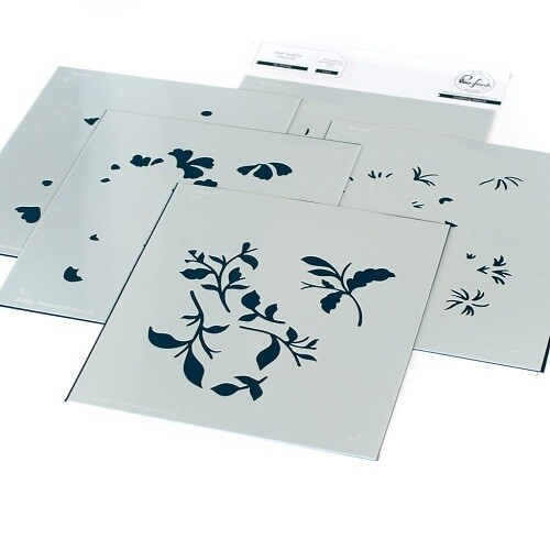 PinkFresh Studios - A2 - Be Strong - Layered Stencil - 113321 - 5 pieces