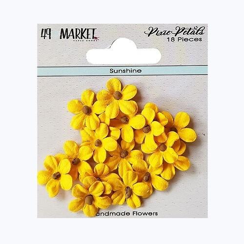 49 & Market - Pixie Petals - Sunshine - 18pcs