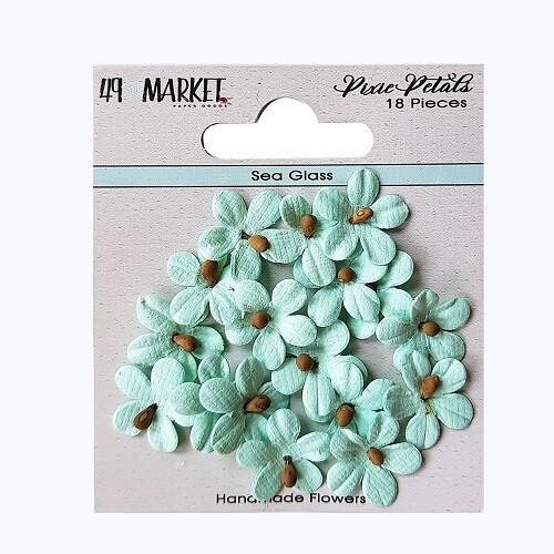 49 & Market - Pixie Petals - Sea Glass - 18pcs