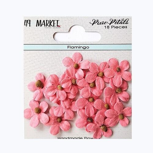 49 & Market - Pixie Petals - Flamingo - 18pcs