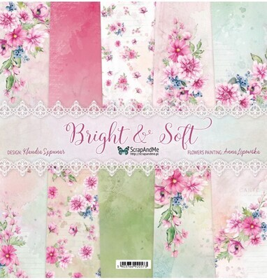 ScrapAndMe - Bright & Soft  - 12 x 12 Paper Collection