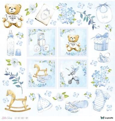 ScrapAndMe - Little Cuties - Boy - Fussy Cutting 12 x 12 Sheet