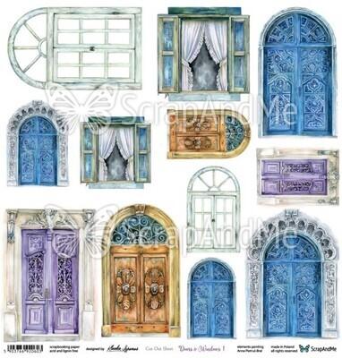ScrapAndMe - Doors & Windows 1- Fussy Cutting 12 x 12 Sheet