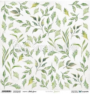 ScrapAndMe - Leaves 4 - Fussy Cutting 12 x 12 Sheet