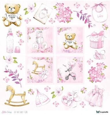 ScrapAndMe - Little Cuties - Girl - Fussy Cutting 12 x 12 Sheet