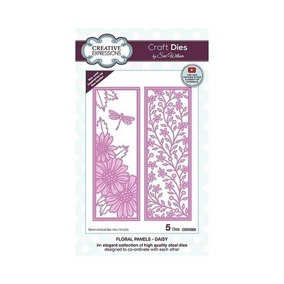 Creative Expressions - Craft Dies By Sue Wilson - CED 2052 - Floral Panels - Daisy - 5 pcs