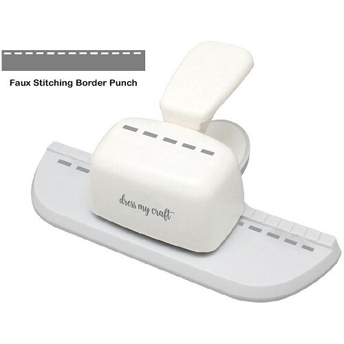 Dress My Craft - Faux Stitching Border Punch - DMCT5153