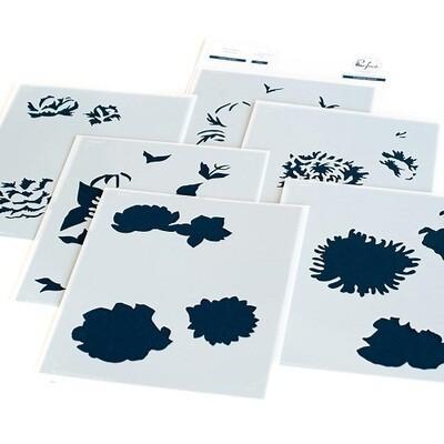 PinkFresh Studios - Flower Garden - Layered Stencils - 110421 - 6 pieces
