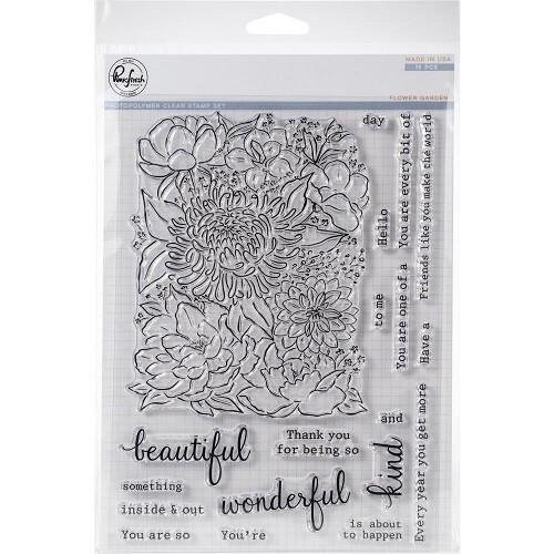 """PinkFresh Studios - Clear Stamp - Flower Garden - 6"""" x 8"""" - PFCS2219"""