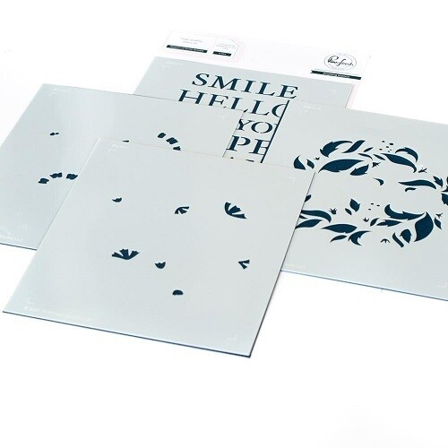 PinkFresh Studios - Reason To Smile - Layered Stencils - 114421 -  4 pcs