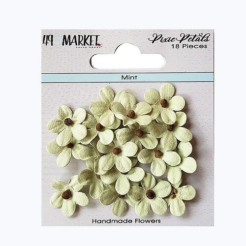 49 & Market - Pixie Petals - Mint - 18pcs