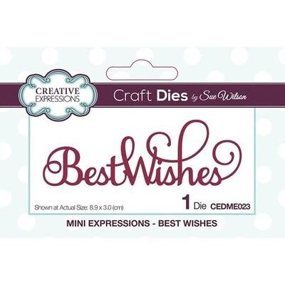 Creative Expressions - Craft Dies By Sue Wilson - Best Wishes - CEDME023