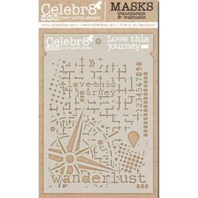 Celebr8 Stencils / Masks - Love This Journey - SM4624