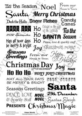 3 Quarter Designs - Acetate - Christmas - A4