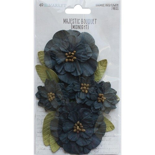 49 & Market - Majestic Bouquet - Midnight - 7 pcs