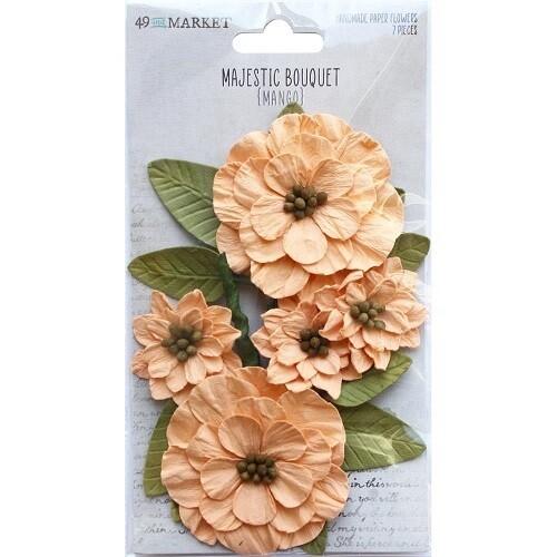 49 & Market - Majestic Bouquet - Mango - 7 pcs