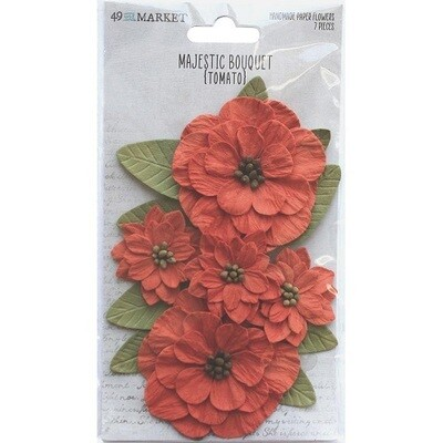 49 & Market - Majestic Bouquet - Tomato - 7 pcs