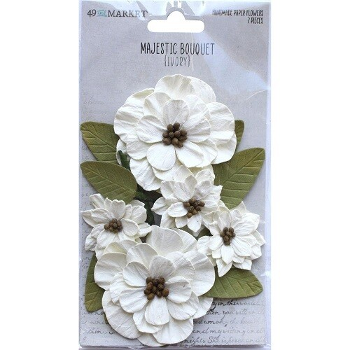 49 & Market - Majestic Bouquet - Ivory - 7 pcs