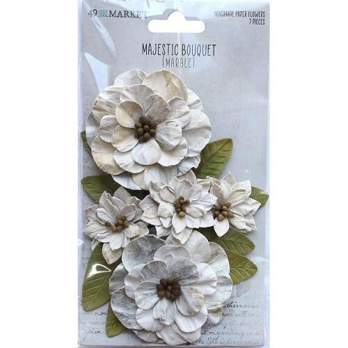 49 & Market - Majestic Bouquet - Marble - 7 pcs