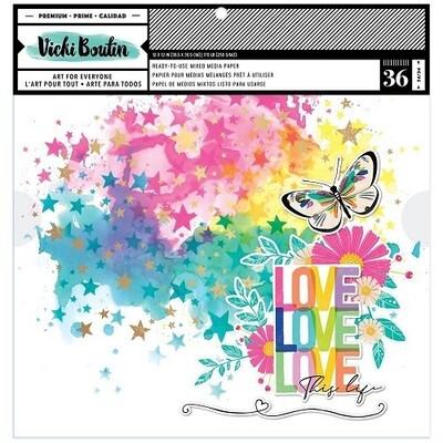 Vicki Boutin Mixed Media Background Paper - Colour Study - 12 x 12 Pad.