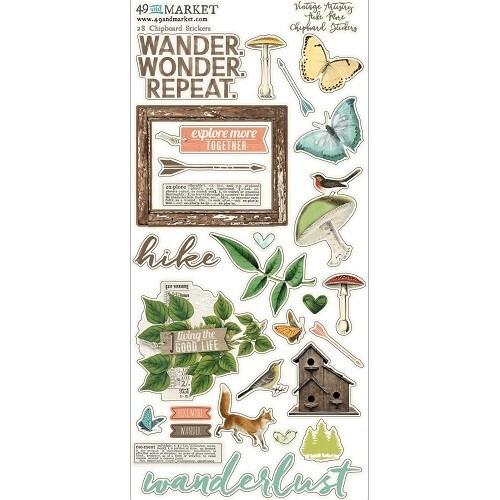 49 & Market - Vintage Artistry - Hike More - Chipboard Stickers