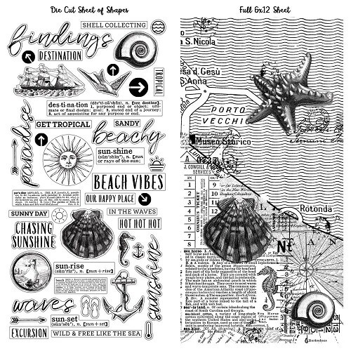 49 & Market - Vintage Artistry - Travel - Beached - Washi Tape - 2 sheets - VTB34505