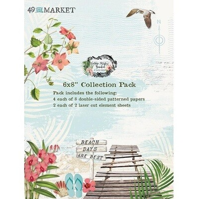 49 & Market - Vintage Artistry Travel - Beached - 6 x 8 paper pack