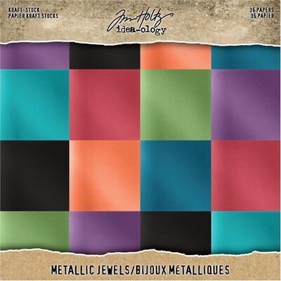 """Tim Holtz - Idea-Ology - Jewels Metallic - Paper pad - 8"""" x 8"""" - TH93781"""