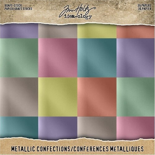 "Tim Holtz - Idea-Ology - Confections Metallic - Paper pad - 8"" x 8"" - TH93784"