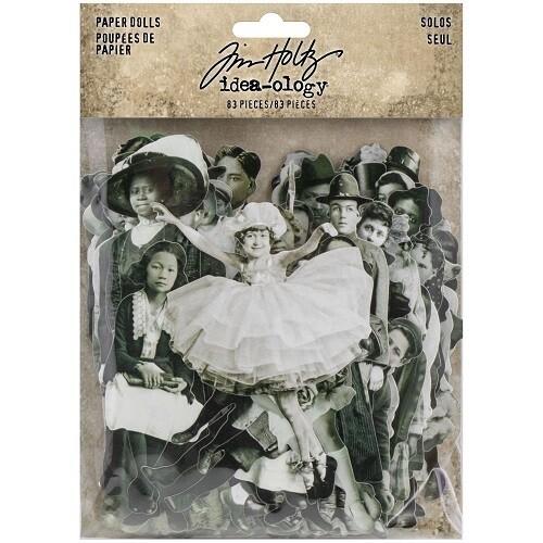 Tim Holtz Idea-Ology - Paper Dolls - Solo - TH93555 - 83 pcs