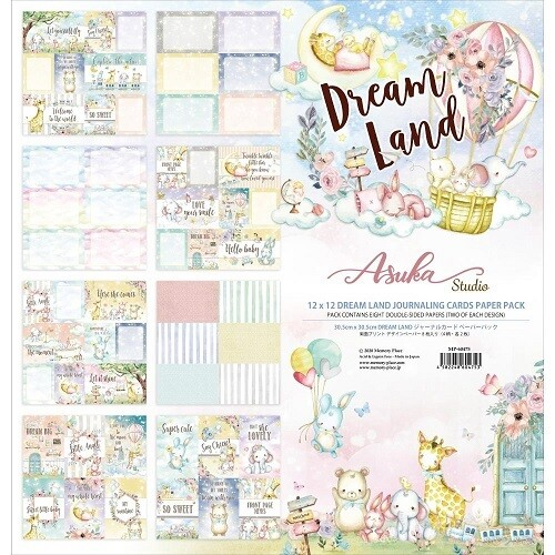 Memory Place - Asuka Studios - Dreamland Journalling Cards - 12 x 12 Collection