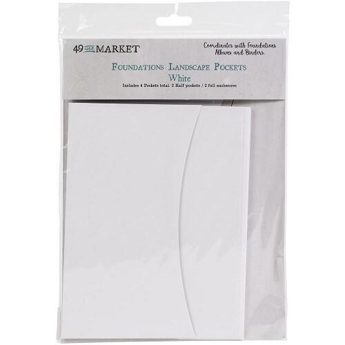 49 & Market - Foundations - Landscape - Pockets - White - 4pack