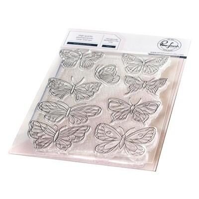 "PinkFresh Studios - Clear Stamp - Butterflies Small 4"" x 6"" - 118621"