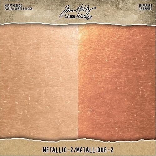 "Tim Holtz - idea-ology - Rose Gold / Copper - 8"" x 8"" Paper Pad"