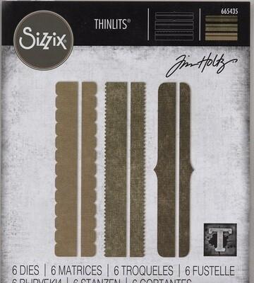 Sizzix - Thinlits Die By Tim Holtz - Decorative Trims - 665435
