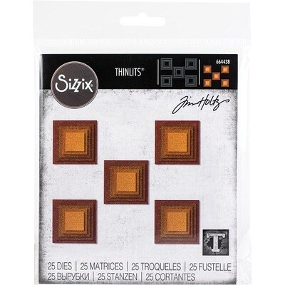 Sizzix - Framelits Dies - by Tim Holtz - Stacked Tiles - Squares - 664438