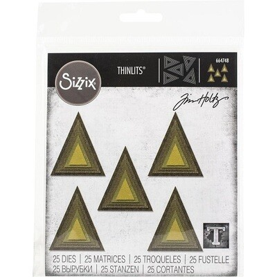 Sizzix - Framelits Dies - by Tim Holtz - Stacked Tiles - Triangles - 664748