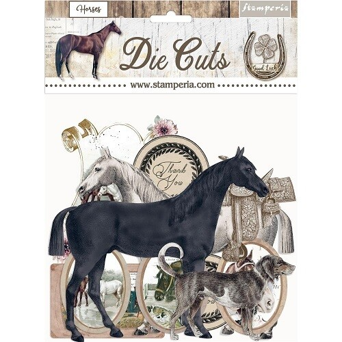 Stamperia - Romantic Collection - Horses - Die Cuts