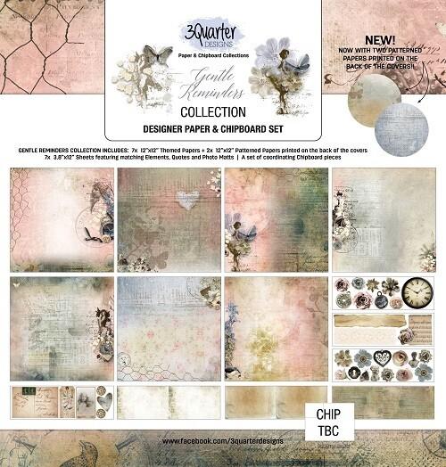 "3 Quarter Designs - 6"" x 8""  Gentle Reminders Collection - Mini Album Base Kit"
