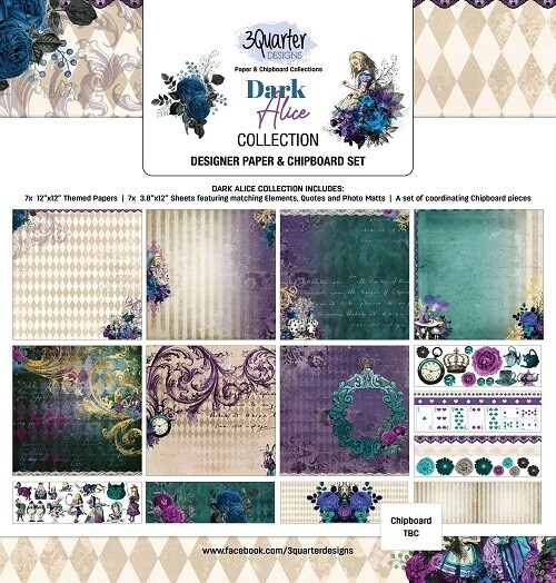 3 Quarter Designs - 12 x 12 Collections - Dark Alice