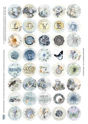 3 Quarter Designs - Whispered Memories A4 Sheet