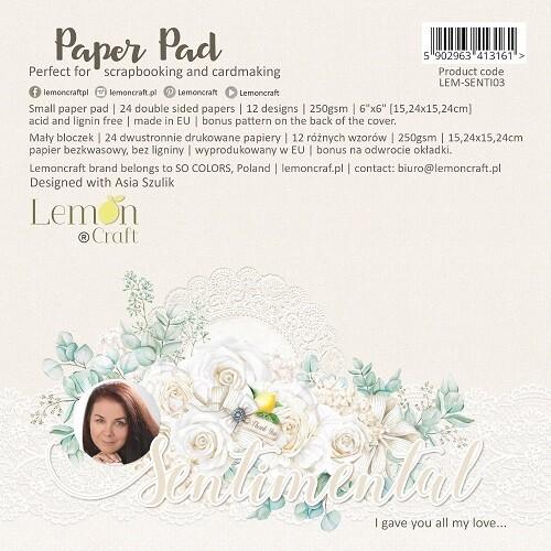Lemoncraft - Sentimental Collection - 6 x 6 Scrap pad