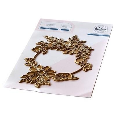 PinkFresh Studios - Daisy Wreath Hot Foil Plate - 119221