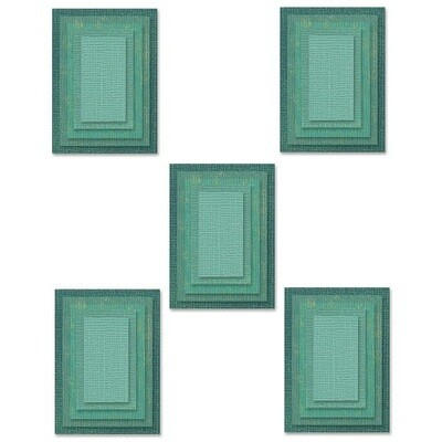 Sizzix - Framelits Dies - by Tim Holtz - Stacked Tiles - Rectangles - 665433 - 25 Dies